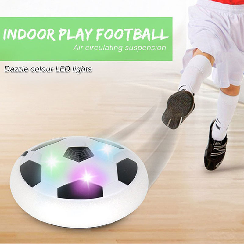 LED Light Flashing Arrival Air Power Soccer Ball Disc Indoor Football Toy In box Multi-surface Hovering Gliding boys Girls Toys