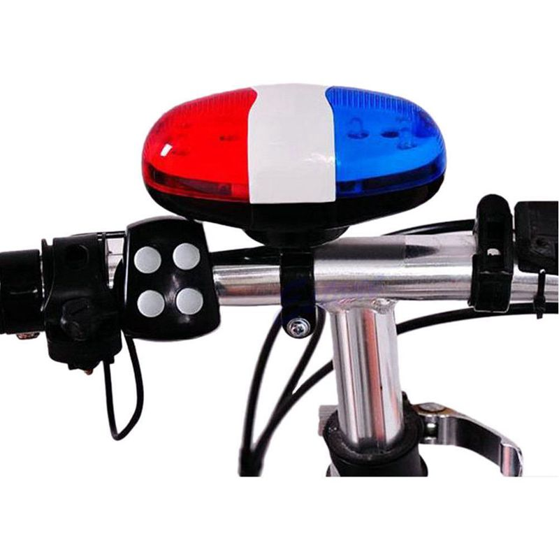 Bicycle Bell 6 LED 4 Tone Horn LED Light Electronic Siren Bicycle Bells for Kids Bike Accessories                             #8