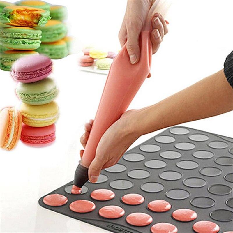 Silicone Macaron Baking Mould 48 Cavity Macaroon Pastry Oven Sheet Mat DIY Mold Esteiras Forros De