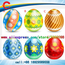 2pcs/lot,giant inflatable kinder easter egg ball balloon for decoration(China)