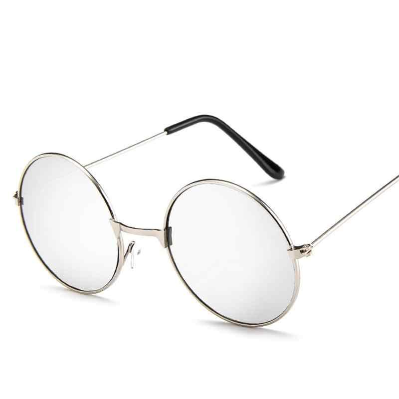 b6ef1048f2 ... Fashion Vintage Round Sunglasses For Women Men Brand Designer Mirrored  Glasses Retro Female Male Sun Glasses ...