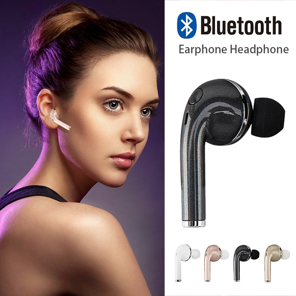 1PC Mini Stealth Wireless Bluetooth 4.1 Headset Earphone Headphone Stereo Music Earbuds for iPhone7 6/7plus for All Smartphone bluetooth earphone earbuds with car charger 2 in 1 driver mini wireless bluetooth headset earphone for iphone android smartphone