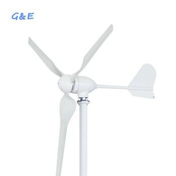 12 v 24 v 48 v opsiyonel 600 w yatay eksenli rüzgar jeneratörü ile su geçirmez rüzgar şarj regülatörü