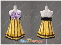 Vocaloid 2 Cosplay Project DIVA 2nd Kagamine Rin Costume Cheerful Candy Ver H008