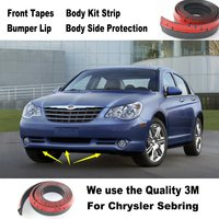 For Chrysler Sebring PT Cruiser Pacifica Car Bumper Lips Spoiler Tuning Body Kit Strip Front Tapes Body Chassis Side Protection