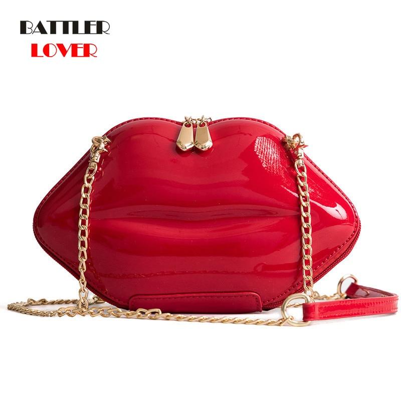 Mouth Shape Bags for Women 2019 Bags Women Handbag Bolsa Feminina Shoulder Messenger Bag Luxury Handbags Girls Crossbody Bag