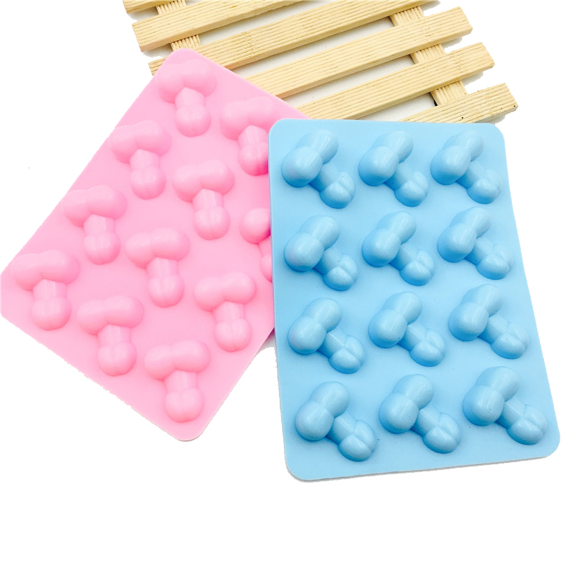 New Arrival 1pc Sexy Penis Silicone Cake Mold 12 Holes Ice Cube Tray DIY Silicone Chocolate Molds