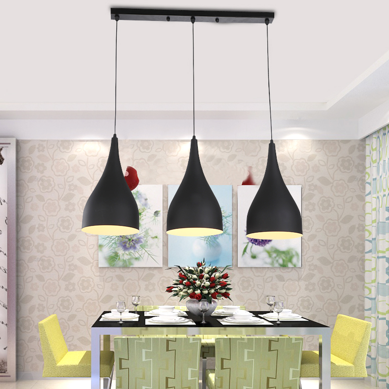 Modern Pendant Light Loft Kitchen Design Rope Lamp Matte Black Painting Iron Simple Style E27 220v For Decor Home Lighting In Lights From