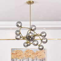 Modern Global Glass Chandelier Light Nordic Bubble Glass Pendant Hanging Lights Living Room Light Fixture Lamp