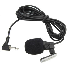 Best Price PVC 3.5 mm Wired Stereo Jack Mini Car Microphone External Mic For PC Car DVD GPS Player Radio Audio Microphone