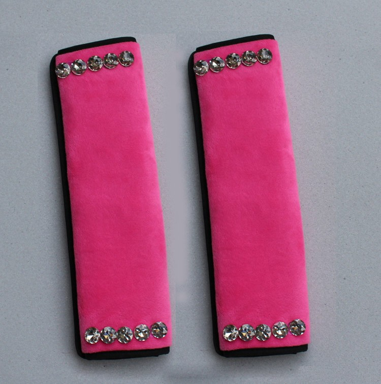 High-Quality-2pcs-Crystal-Car-Safety-Seat-Belt-Covers-Plush-Shoulder-Pads-Auto-Interior-Decro-Rose-l1