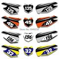 Custom Backgrounds Number Plate Graphics Sticker & Decals Kit For KTM SX XC 125 150 250 350 300 450 2013 2014 2015