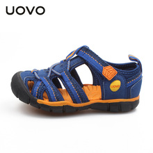 UOVO 2017 Nonslip Boys Sandals Anticollision Closed Toe Sandals For Boy Breathable Wearable Kids Shoes Beach Children Shoes Boys