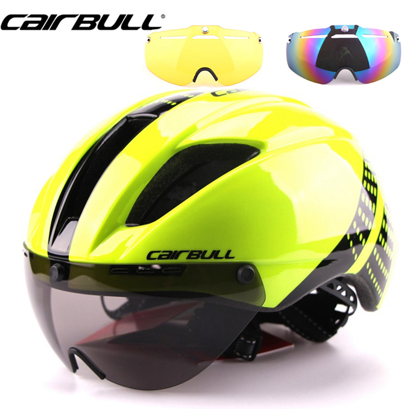 3 Lens Aero 280g In-Mold Goggles Bike Helmet Road Cycling Bicycle Sports Safety Helmet Riding Mens Speed Airo Time-Trial Helmet safety pvc special forces helmet random color