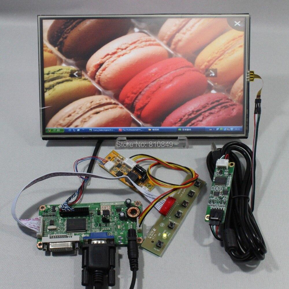 DVI+VGA controller board+10.1inch N101BCG-L21 1366*768 IPS Lcd +Touch panel стоимость