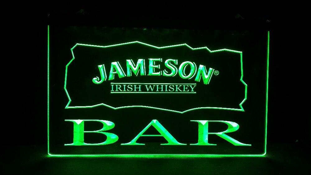 b30 BAR Jameson Irish Whiskey LED Neon Sign-in Plaques