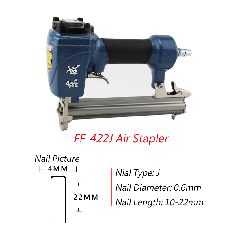 Power Tools Pneumatic Air Nail Gun 4-8 Bar Promote The Production Of Body Fluid And Saliva Temperate Ff-422j Air Stapler For Width 4mm U Code Nail 10-22mm Length Nail