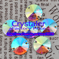 Hot Selling~ 12mm Crystal AB  sew on buttons round Silver base crystal glass stone 2holes.