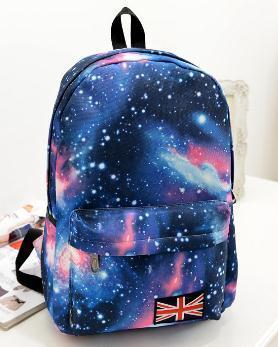 2017 New Fashion backpack causal children school bags Cool Sky Printing Backpack wholesale Price women backpack