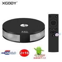 XGODY R10 Smart TV Box 2+16G Android 7.1.2 TV BOX Quad Core Dual WIFI 4K TV BOX H.265 USB 3.0 With Voice control Media Player