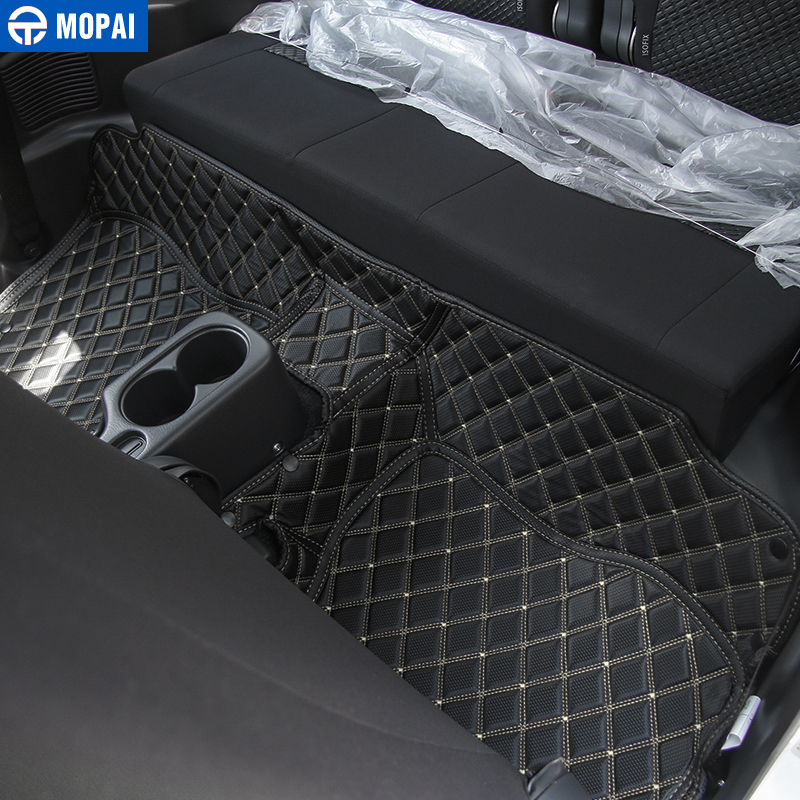Image 3 - MOPAI Leather Car Interior Floor Foot Mats Carpets Foot Pads for Suzuki Jimny 2007 2017 Car Accessories-in Interior Mouldings from Automobiles & Motorcycles