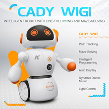 JJRC R6 CADY WIGI Line Following Maze Solving Intelligent Programming RC Dancing Robot Blue Orange For Kids Birthday Gifts VS R2 цена и фото