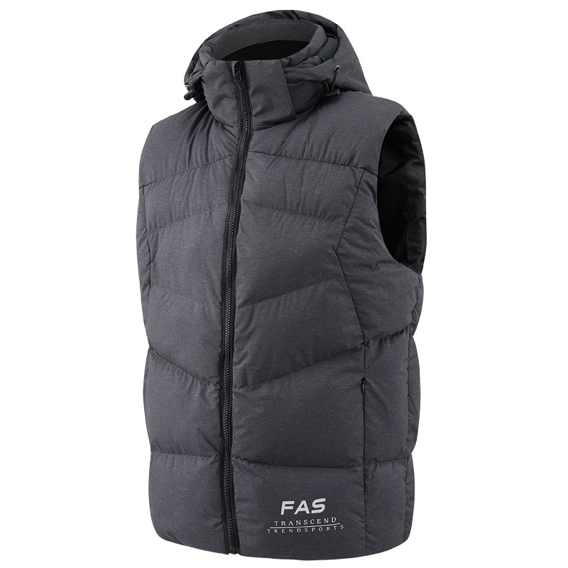 Sleeveless Jacket Work-Vests Waistcoat Hooded Spring Warm Autumn Male Plus-Size Fashion title=