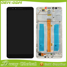AAA Three colors LCD Display Touch Screen Digitizer Assembly with frame For Huawei Ascend Mate 7 Mate7 repair replacement