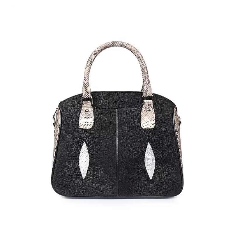 a3f60e48b7d9 ... Необычные Лоскутные дизайнерские из натуральной жемчужины рыбьей кожи  питона женские портативный сумки женский маленький кошелек дамы ...