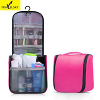 Upgrade Large Ladies Wash Bag Toilet Bag Hanging Makeup Bag 1pcs 8 Candy Colors Waterproof Wear