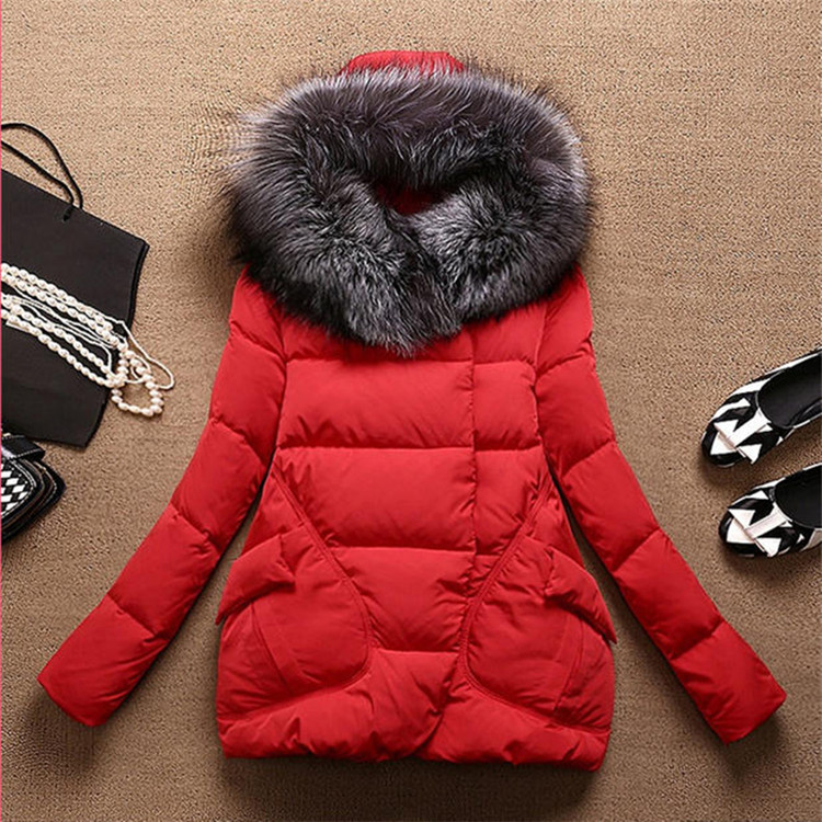 ФОТО Winter Jacket Women Long Fur Hooded Coat Cotton Padded Parka Cloak Womens Clothing  Size