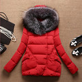 Winter Jacket Women Long Fur Hooded Winter Coat Women Cotton Padded Jacket Parka Cloak Womens Winter Clothing Plus Size