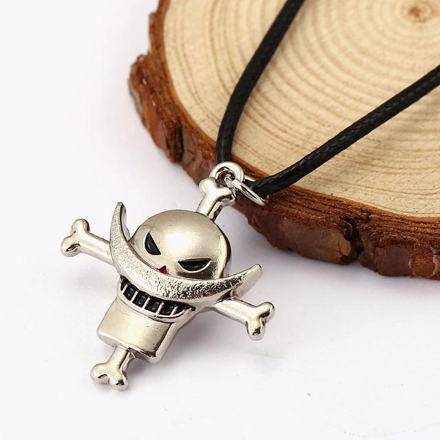 One Piece Luffy Skull Pendant Necklace