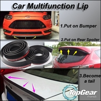 Car Multifunction All Sides Sopiler Bumper Lip Spliter Deflector For View Tuning Easy DIY Body Kit