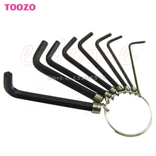 8 In 1 Hex Key Allen Wrench Set 1.5mm~6mm Metric Hand Tool Kit Box Key Chain New -Y121 Best Quality(China (Mainland))