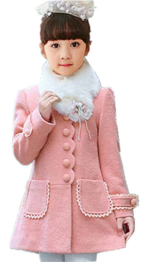 Niños 2016 nuevo invierno abrigo de lana de Corea niñas niño grande virgen al por mayor más grueso