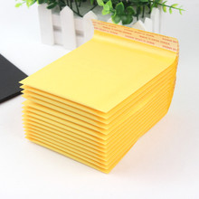 5 PCS/lot 110*130mm Kraft Paper Bubble Envelopes Bags Mailers Padded Shipping Envelope With Bubble Mailing Bag Business Supplies(China)