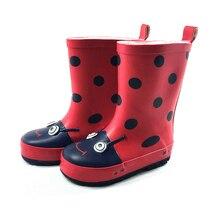 Children Rain Boots Spring Autumn Winter Boys Girls Shoes Baby Kids Beetle Flat Rainboots Walker Waterproof Shoes Cartoon Rainbo