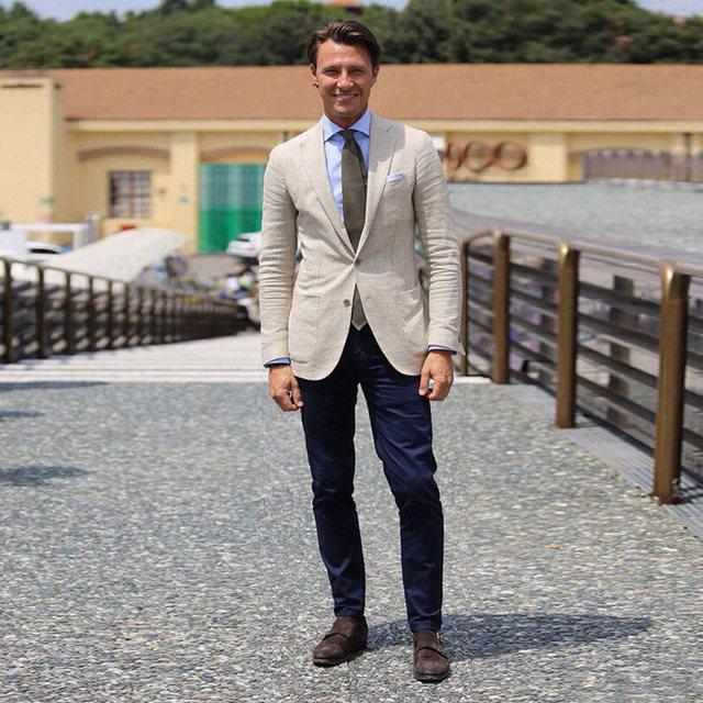 d29c2d1793 2018 Linen White Men Suit With Pants Casual Street Jacket Tuxedo Wedding  Suits for Men Blazer Groom Best Men Jacket Custom Made