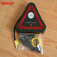 Car Electric Inflatable Pump With Triangular Warning Signs LED Lights