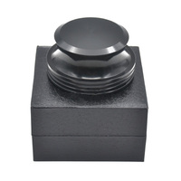 LEORY 418g 40mm *78mm Record Weight Turntables Stabilizer Aluminum Clamp LP Vinyl Turntables Metal Disc Stabilizer Black