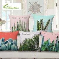 Fashion 45 45cm Cotton Linen Africa Tropical Plant Banana Leaf Decorative Throw Pillow Case Cushion Cover