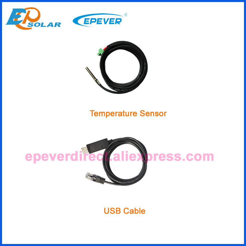 USb кабель и датчик температуры EPEVER EPsolar зарядное устройство применение контроллера