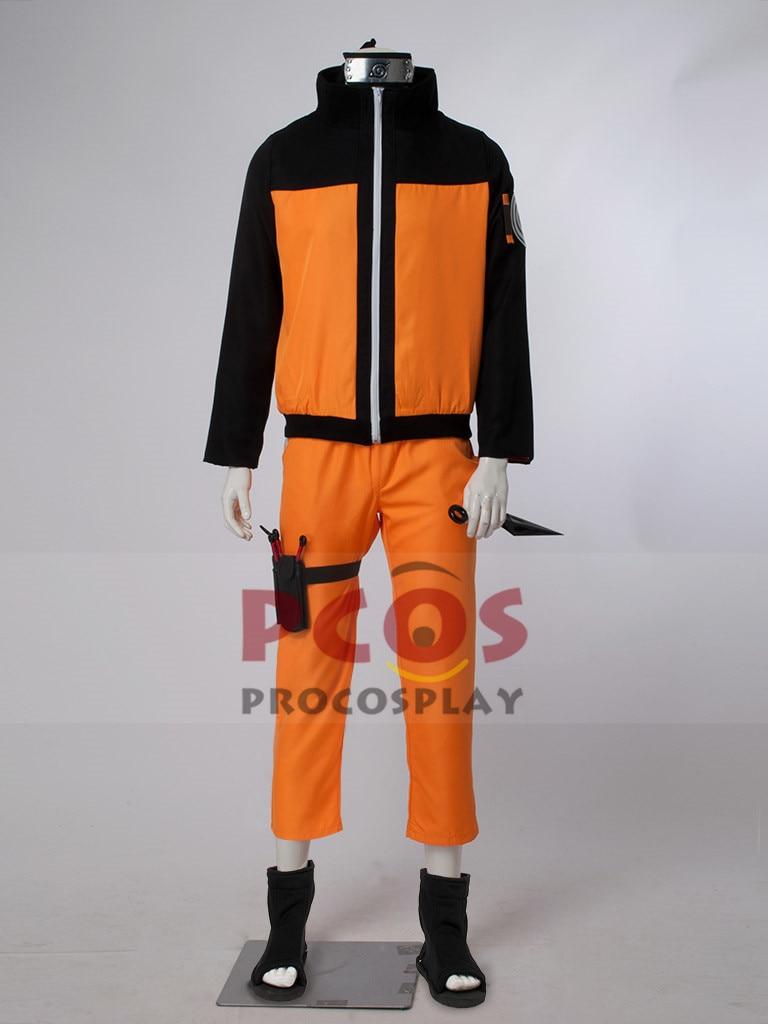 Deluxe Set~ Naruto Shippuden Uzumaki Cosplay Costume mp000059