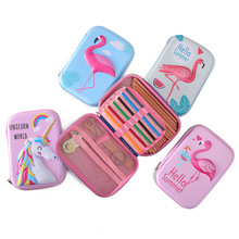 Flamingo pencil case unicorn estuche escolar Kawaii trousse scolaire stylo kalem kutusu pencilcase EVA box