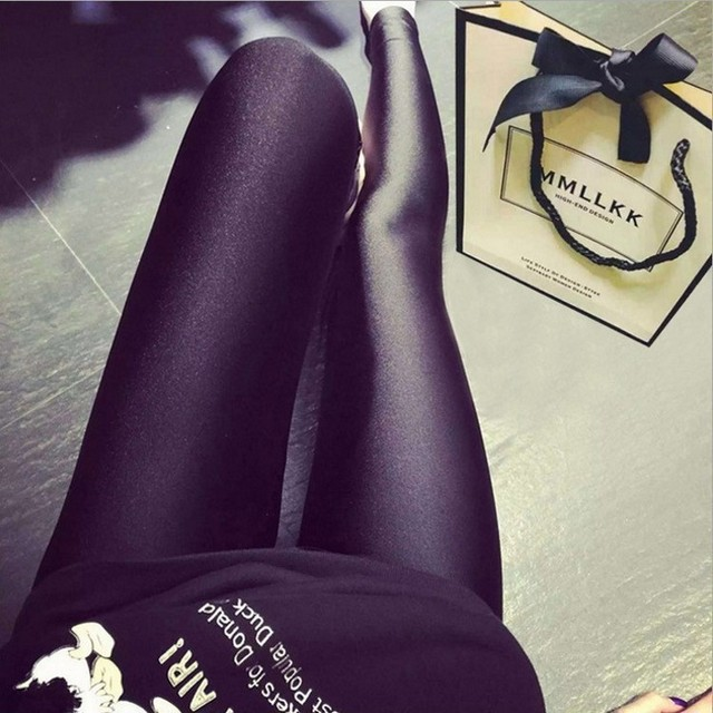 Black pants feet pencil pants female pants big yards Ms. outer wear leggings autumn thin section Leggings Qianqin