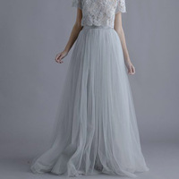 Girl's Long Tutu Skirt Pettiskirt Bouffant Women Ladies' Elegant Prom Nice Skirt faldas Mujer saias jupe ytl0038 F006