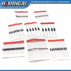 8values=100pcs 1N5399 1N5408 1N4148 1N4007 1N5819 1N5822 FR107 FR207 Switching Diode component diy kit original hjxrhgal