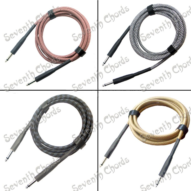 two plugs 6 meters long cloth bass effects cable noise shielding cable electric guitar wire. Black Bedroom Furniture Sets. Home Design Ideas