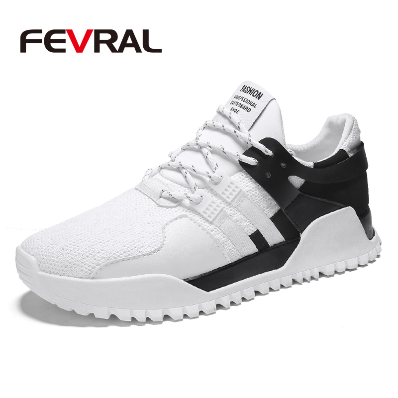 FEVRAL Men Sneakers 2018 Spring Autumn Outdoor Men Running Shoes for Brand Comfortable Breathable Lace-Up Light Sport Shoes